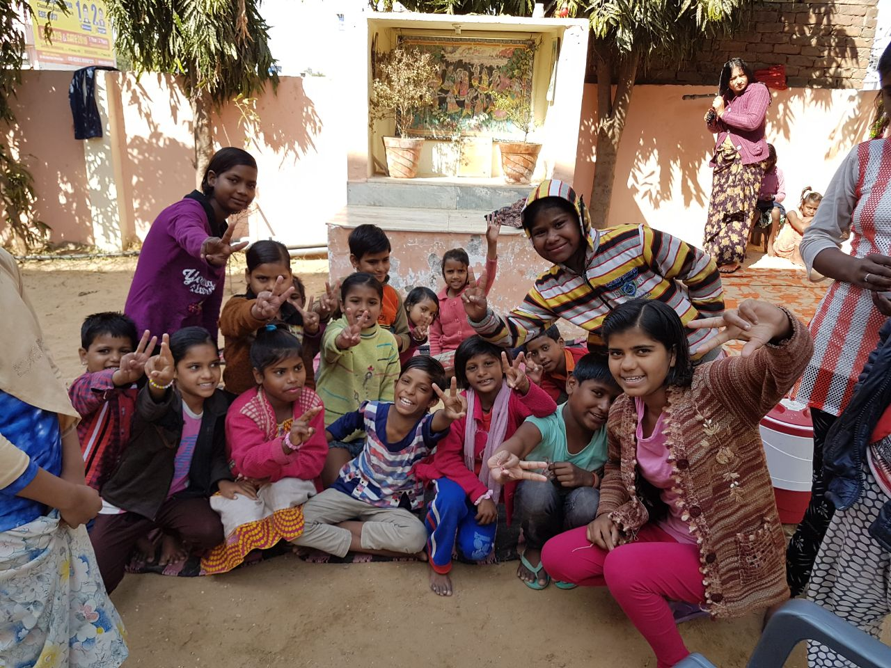 world's education for kids - Kinder in Rajasthan - Gruppe